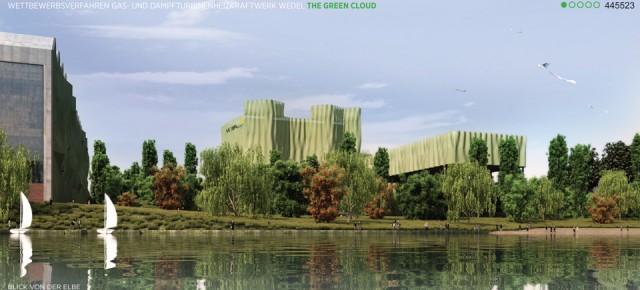 Gas- und Dampfturbinen Heizkraftwerk Wedel, Hamburg - The Green Cloud